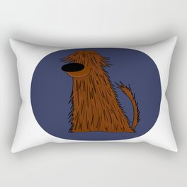 Bearded Collie Dog Doggie Puppy gift present Rectangular Pillow