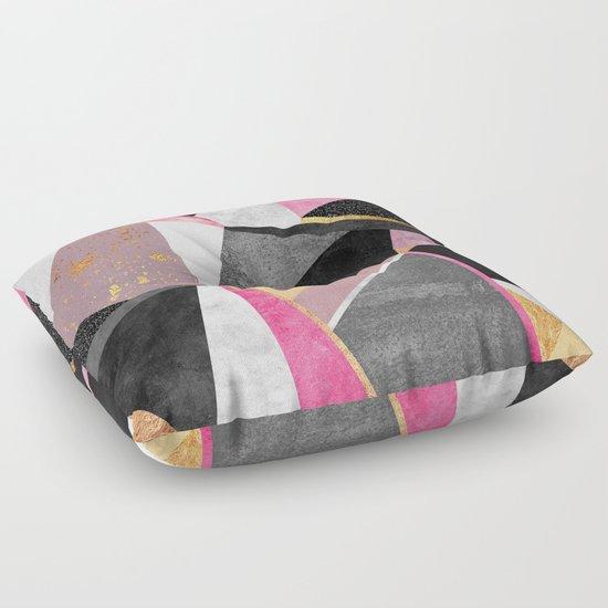 Geometry / Pink Floor Pillow