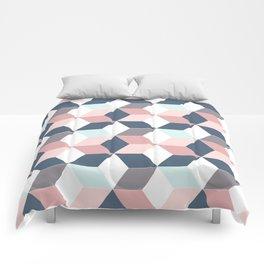 Starry cubes Comforters