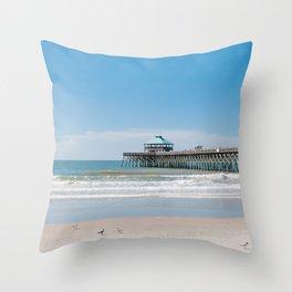 Folly Beach III Throw Pillow