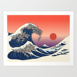 The Great Wave of Sloth Art Print