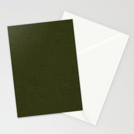 Dark olive textured. 2 Stationery Cards