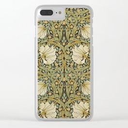 William Morris Pimpernel Art Nouveau Floral Pattern Clear iPhone Case