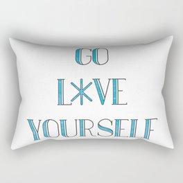 Go Love Yourself Rectangular Pillow