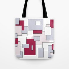 Squares - gray, purple, gray and white. Tote Bag