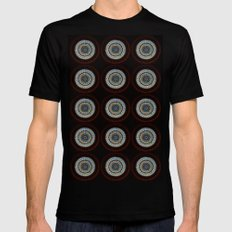 Stained Glass Trip MEDIUM Mens Fitted Tee Black