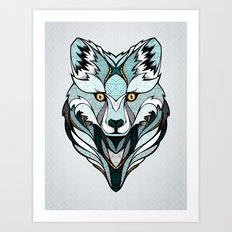 Little Polar Fox Art Print
