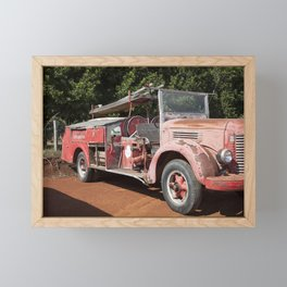 Old Fire Truck Framed Mini Art Print