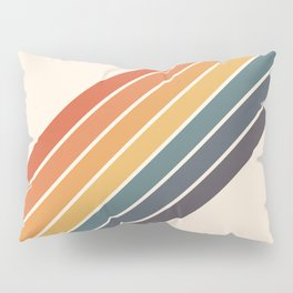 Arida -  70s Summer Style Retro Stripes Pillow Sham