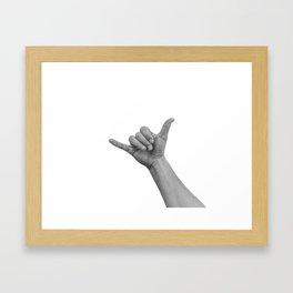 shaka bro Framed Art Print