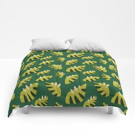 Pretty Clawed Green Leaf Pattern Comforters
