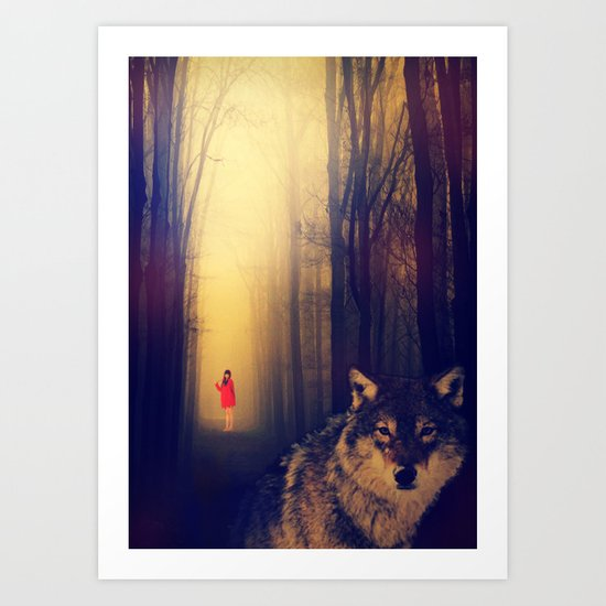Once Upon A Time: Red Art Print