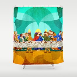 Curves - Last Supper Shower Curtain