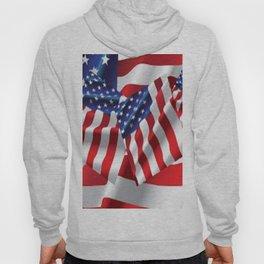 Patriotic American Flag Abstract Art Hoody