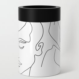 Couple Minimal Line Can Cooler