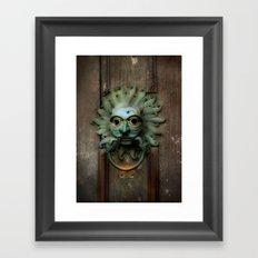 Sanctuary Knocker Framed Art Print