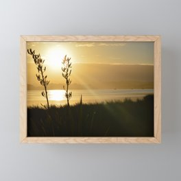 NEW ZEALAND SUNSET OVER THE LAKE Framed Mini Art Print