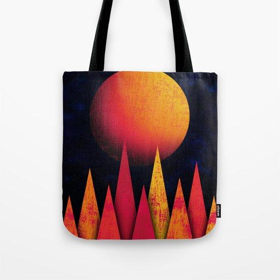Mountain Sky Peaks Tote Bag