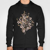 Floral curve pattern, rose gold Hoody