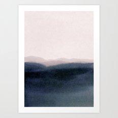dusk scenery Art Print