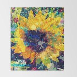 Sunflower Batik Throw Blanket