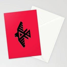 Animikii Thunderbird doodem on red Stationery Cards