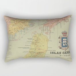 Vintage Map of The Canary Islands (1916) Rectangular Pillow