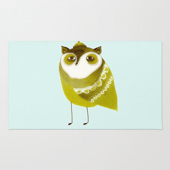 Golden Owl illustration  Rug