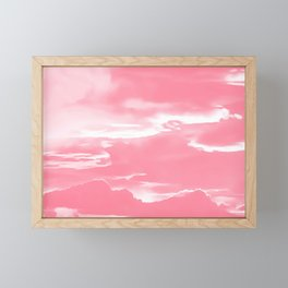 cloudy burning sky reacpw Framed Mini Art Print