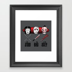 Hockey Mask Evolution Framed Art Print