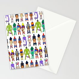Superhero Butts - Power Couple on Grey Stationery Cards