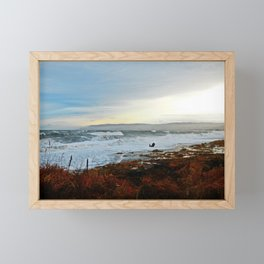 Sainte-Anne-Des-Monts and the Surf Framed Mini Art Print