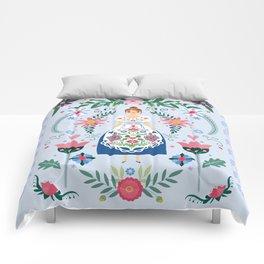 Fairy Tale Folk Art Garden Comforters