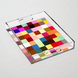 checkered times Acrylic Tray