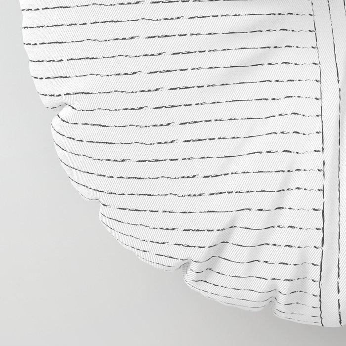 Lines Art Floor Pillow