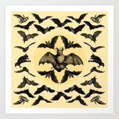 Bats Pattern Art Print