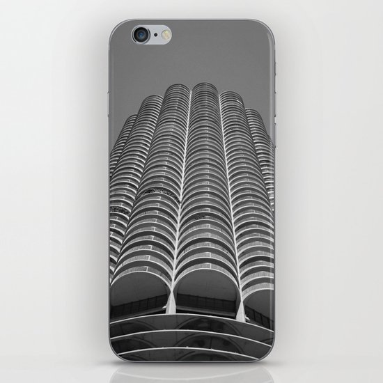 Marina City Tower Photo, Chicago, Architecture iPhone & iPod Skin