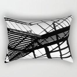 Escape in Black & White Rectangular Pillow