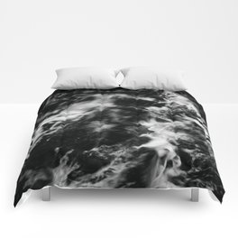 Waves III - Black and White Comforters