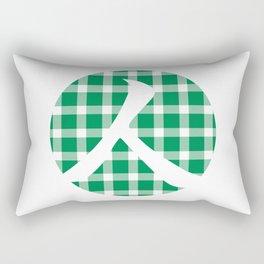 Plaid Emerald Green Person Rectangular Pillow