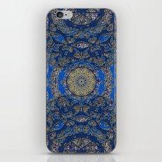 Blue Gold Lacy Mandalas iPhone & iPod Skin