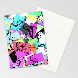 il re de futbol pattern Stationery Cards
