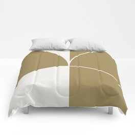 Diamond Series Round Solid Lines White on Gold Comforters
