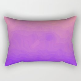 Pink and Purple Ombre - Swirly Rectangular Pillow