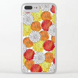 Dahlia Garden Summer Clear iPhone Case