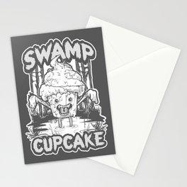 SWAMP CUPCAKE — Halloween vintage horror 80' Stationery Cards
