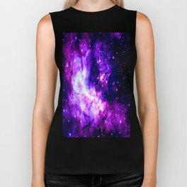 Purple Galaxy : Celestial Fireworks Biker Tank