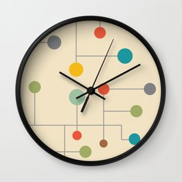 Mid-Century Dots Pattern Wall Clock
