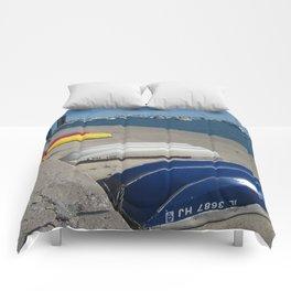 Chicago Shoreline, Skyline, Boats Comforters
