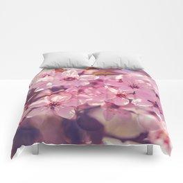 Sakura photography, pink blossoms Comforters